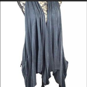 LULULEMON Black Top Vest Wrap Tencel Tranquility